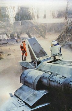 Luke Skywalker e R2-D2 - Star Wars