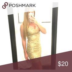 As U Wish Sequin Bodycon Dress Gold sequin dress. Stretchy fit! As U Wish Dresses Mini