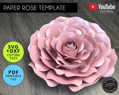 PDF Tiny Rose 3 Paper Flower 6 Different sizes Trace and   Etsy Large Paper Flowers, Small Flowers, Wood Flowers, Diy Flowers, Flower Petal Template, Leaf Template, Homemade Business, Diy Papier, Flower Petals