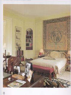"kellyclaman: ""The Duke of Windsor's Paris bedroom. Windsor, Interior Exterior, Interior Design, Wallis Simpson, Edward Viii, Paris Bedroom, Villa, Duke And Duchess, Southern Style"