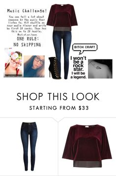 """""""Music Tag 🎼"""" by jessicalittlestar ❤ liked on Polyvore featuring River Island"""
