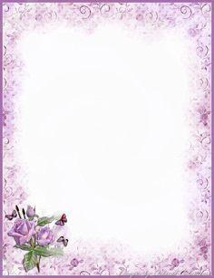 Lavendar roses paper note  papier à lettre à imprimer !