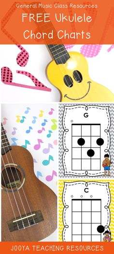Grab your own FREE Ukulele Chord Charts from Jooya Teaching Resources. There are 21 different chord charts, as well as some blank charts for you to create and add to your own collection. Download them today for FREE!