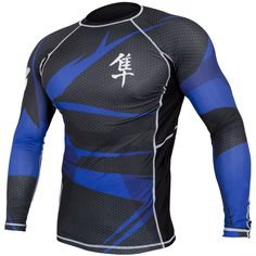 NJ FIGHT SHOP - Hayabusa Metaru 47 Silver Rashguard Longsleeve - Black/Blue, $69.99 (http://www.njfightshop.com/hayabusa-metaru-47-silver-rashguard-longsleeve-black-blue/)