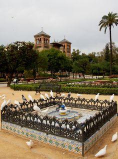 Plaza de América in Seville, Spain