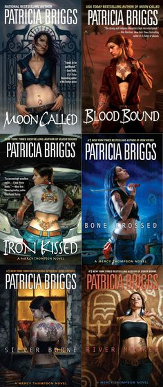 Mercy Thompson Series by Patricia Briggs Only part way through the series but these are awesome!!!