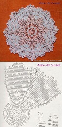 Crochet Patterns Vintage andrea croche: Wipe with graph Crochet Tablecloth Pattern, Crochet Doily Diagram, Crochet Lace Edging, Crochet Doily Patterns, Crochet Mandala, Crochet Chart, Crochet Squares, Thread Crochet, Crochet Flowers