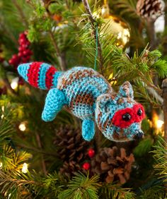 Ravelry: Racy Raccoon Ornament pattern by Nancy Anderson
