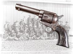 Johnson County Invader J. A. Garrett's Colt Quickdraw Model Single Action Army Revolver