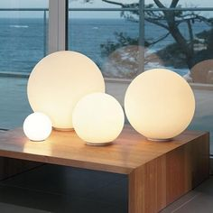 New Modern Globe Ball Round Glass Floor Table Desk Lighting Light Lamp One Piece  | eBay