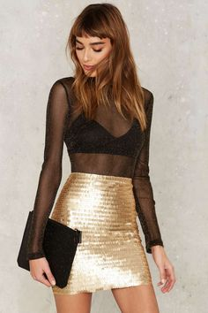 Nasty Gal Roxxanne Sequin Skirt | Shop Clothes at Nasty Gal!