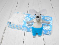 New parent Stuffed animals felt stuffed mice by atelierpompadour