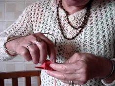 Meia de lã sem costura em tricô