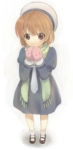 Ushio wears Dango-gloves xD