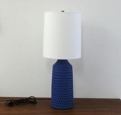 Victoria Morris Carved Lamp Cobalt Blue | Remodelista