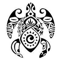 turtle, lizard, tiki, koru, sun, twist, spears, pidgeons, fish, flax plant, family, children, protection, luck, abundance, joy, eternal love, bond