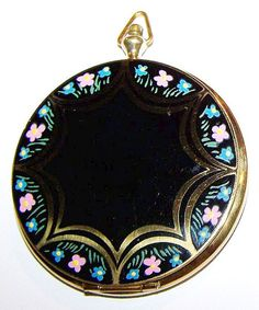 Pretty Vintage Deco Style Enamel Compact Pocket by ATokenOfLove, $30.00 Pocket Watch, Compact, Whimsical, Trending Outfits, Enamel, Unique Jewelry, Cases, Handmade Gifts, Number