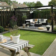 Small Garden Design Ideas Low Maintenance, Back Garden Design, Backyard Garden Design, Small Backyard Landscaping, Backyard Patio, Small Garden Pergola, Urban Garden Design, Path Design, Garden Path