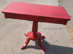 Painted with CeCe Caldwell's Paints in Traverse City Cherry and sealed with Waxing Cream and Dark Aging Cream.