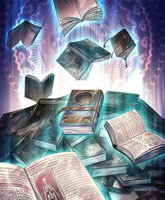 Dark Fantasy Art, Fantasy Artwork, Fantasy World, Anime Weapons, Fantasy Weapons, Fantasy Art Landscapes, Fantasy Landscape, Magic Book, Magic Art