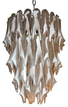 Large Murano Chandelier by Mazzega