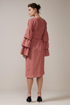 KEEPSAKE SET IN STONE WRAP DRESS rose spot