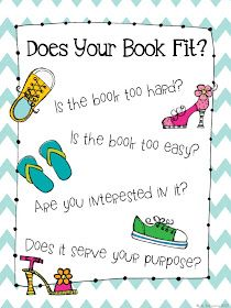 The Daily Five: Good Fit Books Anchor Chart FREEBIE Also has really simple mini lessons for starting read to self Daily 5 Reading, First Grade Reading, Reading Lessons, Guided Reading, Reading Groups, Reading Strategies, Reading Stamina, Reading Projects, Reading Skills