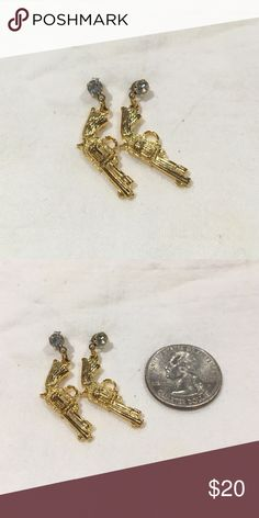 Vintage Annie Get Your Gun Earrings My grandmother was cleaning out her jewelry box and was going to throw these amazing vintage pieces away!! So I saved them and I am sharing the pieces that I can't wear. They are in amazing shape and hard to find! Vintage Jewelry Earrings