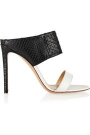 Gianvito RossiPython and leather mules