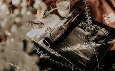 Download wallpapers memories concepts, wedding album, wedding rings, glasses, vintage, style
