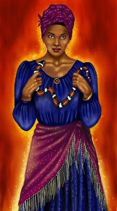 "Hoodoo Magick Rootwork:  ""#Voodoo Queen,"" by gothika248, at deviantART."