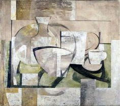 Still life- Greek landscape by Ben Nicholson, 1931 British Council, Abstract Landscape, Abstract Art, Abstract Paintings, Social Art, Royal College Of Art, Mid Century Modern Art, Italian Artist, Art Uk
