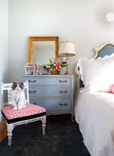 How To Create A Modern, Vintage Bedroom - Yes I'm definitely going to have to recreate that dresser!