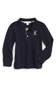 Burberry Cotton Mesh Polo (Baby Boys) available at #Nordstrom