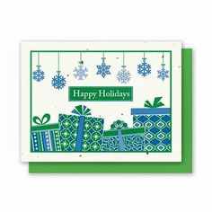 #PlantableGreetingCards  NEW Presents - 5 Pack  This Holiday Greeting Card pops with color and retro wrapped presents!  Each card is embedded with a colorful array of Wildflower seeds!  Save 15% off ALL Halloween Gifts Use Coupon Code: boo15 Expiration Date: 10/31/2016  SHOP LINK IN BIO http://ift.tt/1WhkN1f