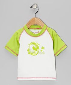Take a look at this Lime Wave Rashguard - Infant, Toddler & Girls on zulily today!