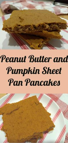 Prepare breakfast for the week with these delicious peanut butter and pumpkin sheet pan pancakes. They are super easy and take a few minutes to prepare. These pancakes are super healthy with whole wheat flour and no butter and they are sugar free. Picky Toddler Meals, Toddler Snacks, Toddler Dinners, Breakfast Pancakes, Free Breakfast, Pumpkin Biscotti, Baby Food Recipes, Kid Recipes, Peanut Butter Pancakes
