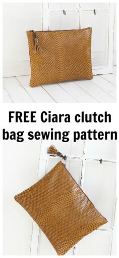 FREE Ciara clutch bag sewing pattern. This pattern is aimed at sewers of all levels.