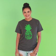 Psych TV show shirt Psych-o Shirt Psych show Tee Shirt PINEAPPLE tee Shawn Spencer Burton Guster Shawn and Gus psych tshirt psych show gift Shawn And Gus, Shawn Spencer, Burton Guster, Psych Tv, Urban Tees, Trendy Kids, Printed Tees, Looks Great, Tv Shows