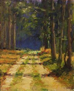 Forest walk original fine art by Michael Sason