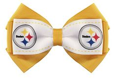 NFL Pittsbugh Steelers 2Tone Bow Hair Clip *** Check this awesome product by going to the link at the image.