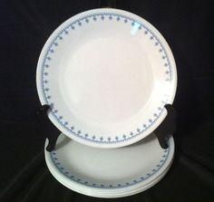 Pyrex Corning Corelle Snowflake Blue Garland 6 Dinner Plates 10.25\  #Corelle & PYREX Corning Ware Corelle Snowflake Blue Garland 4 Tea or Coffee ...