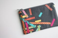 'Washi' pouch that my awesome neighbor made.