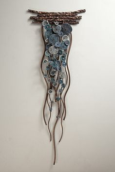 Flow In Blues By Hannie Goldgewicht Mixed Media Wall - Flow In Blues By Hannie Goldgewicht Hand Formed Copper Wall Sculpture With Ceramic Details Each Piece Is Unique Slight Variations May Occur Driftwood Projects, Driftwood Art, Ceramic Sculpture Figurative, Ceramic Wall Art, Glass Ceramic, Ceramic Clay, Ceramic Plates, Copper Wall, Wall Sculptures