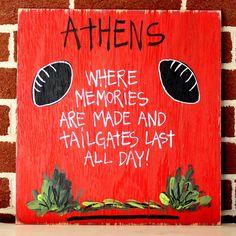 College Tailgating Signs- Athens UGA