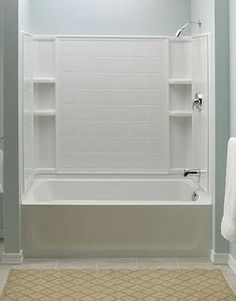 Corian Shower Surround. Very Low Maintenance, No Mildew Or Any Problems  With Grout | My Projects | Pinterest | Shower Surround, Grout And Bathtubs
