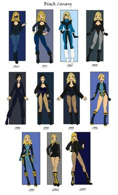 Evolution of the Black Canary