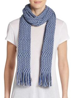 MISSONI Wool-Blend Wave Scarf. #missoni #scarf