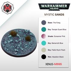 Taking a look a how to create a magical themed base for this weeks guide (video tutorial in comments) : ageofsigmar Warhammer 40k Figures, Warhammer Paint, Warhammer 40k Miniatures, Warhammer Models, Warhammer 40000, Painting Tips, Figure Painting, Painting Techniques, Painting Tutorials
