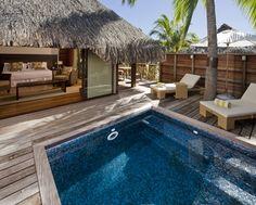 5/6. Hilton Moorea Lagoon Resort and Spa - Deluxe Garden Pool Bungalows - Terrace View